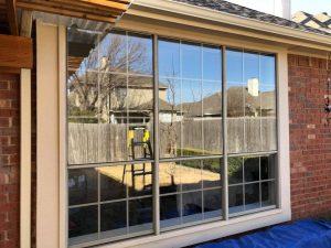 reflection in vinyl windows